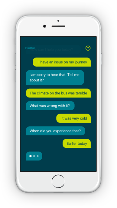 Report issues from your journey via chatbot
